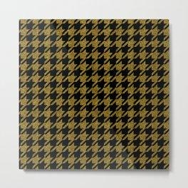 Luxury (golden) elegant houndstooth pattern Metal Print