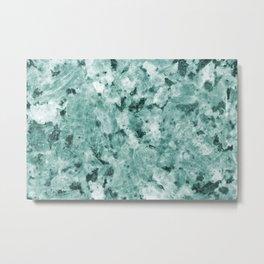 Mint Green Crystal Marble Metal Print