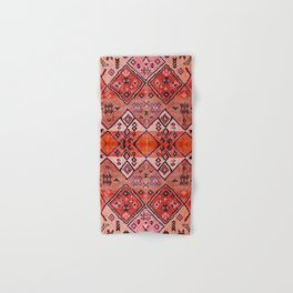 N52 - Pink & Orange Antique Oriental Traditional Moroccan Style Artwork Hand & Bath Towel