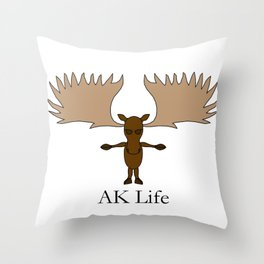 AK Life Moose Throw Pillow