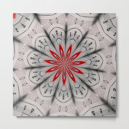 Our Tune Abstract Metal Print