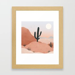 saguaro sunset Framed Art Print