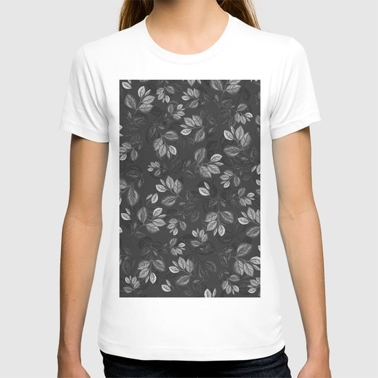 Black and White Leaves Pattern #1 by bettinagal