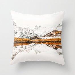 Glacial Reflection Throw Pillow