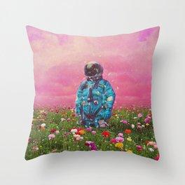 The Flower Field Throw Pillow
