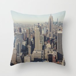 New York City / Aerial Throw Pillow