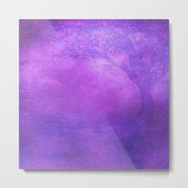 Tree Design Neck Gator Purple Tree Metal Print