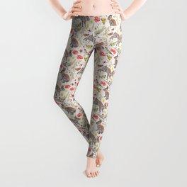 Bunny Meadow Pattern Leggings