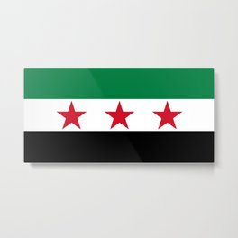 Independence Flag of Syrian Metal Print