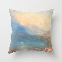 The Lake of Zug by Joseph Mallord William Turner 1843, British Throw Pillow