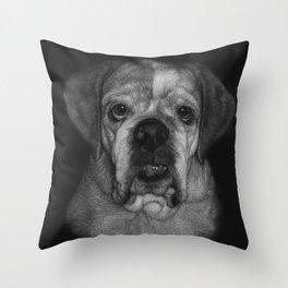 Burrito, a bulldog Throw Pillow