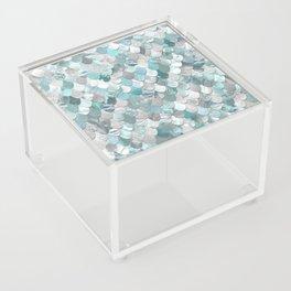 Mermaid Aqua and Grey Acrylic Box