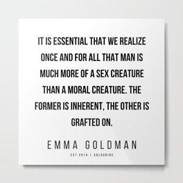19     Emma Goldman Quotes   200602 Metal Print