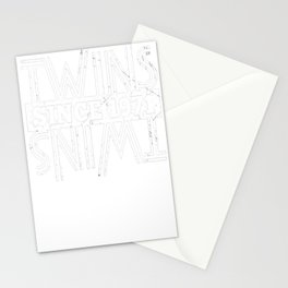 Twins-Since-1971---46th-Birthday-Gifts Stationery Cards