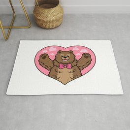 Valentines Bear Rug