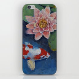 Koi and Water Lily iPhone Skin