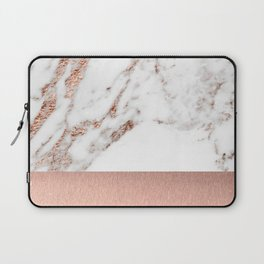 Rose gold marble and foil Laptop Sleeve