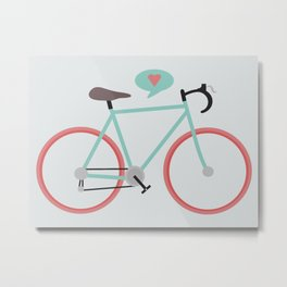 I love cycling Metal Print