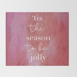 'Tis The Season Red Throw Blanket