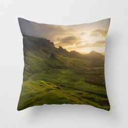 Mesmerized By the Quiraing VI Throw Pillow