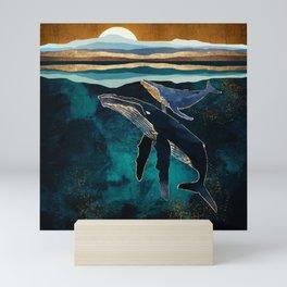 Moonlit Whales Mini Art Print