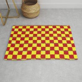 Yellow Chess Rug