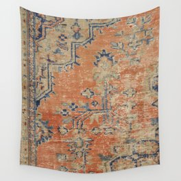Vintage Woven Navy and Orange Wall Tapestry