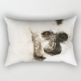 Crested Gibbon Rectangular Pillow