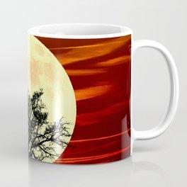Contemporary Tree Full Moon Red Sky Decor Art A484 Coffee Mug