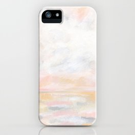 Ecstatic - Pink and Yellow Pastel Seascape iPhone Case