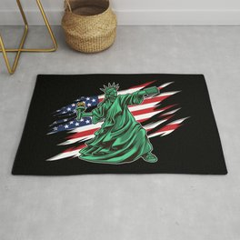 Lady Liberty Riot - Anti Government Rug
