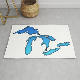 Great Lakes in Blue Rug