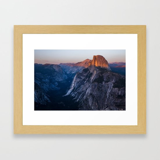 Sunkissed Half Dome at Sunset by brandoncmanning