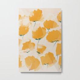 The Yellow Flowers Metal Print