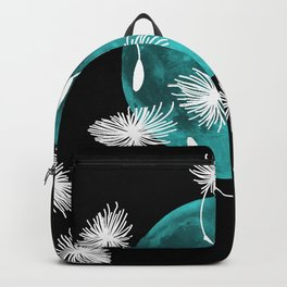 Turquoise Moon with Dandelions Backpack