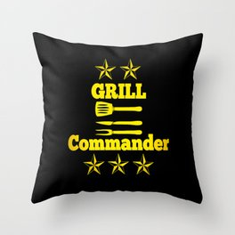 Grill BBQ Dad Barbecue Cook Gift cooking Throw Pillow