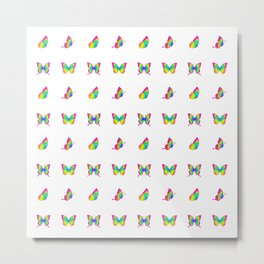 Colorful Butterfly Pattern Metal Print