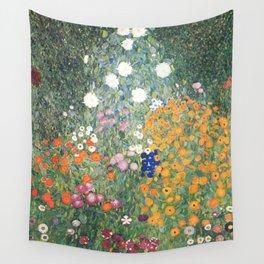 Gustav Klimt Flower Garden Wall Tapestry
