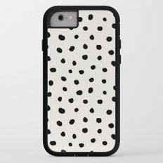 Modern Polka Dots Black on Light Gray iPhone 7 Adventure Case