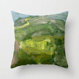 Landscape 1 Mountains Farm Throw Pillow
