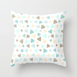 Happy Triangles [She Sells Seashells.] Throw Pillow