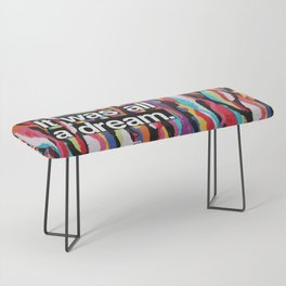 """""""It Was All A Dream"""" Biggie Smalls Inspired Hip Hop Design Bench"""