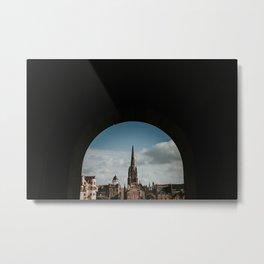 Royal Mile from Edinburgh Castle   Colourful travel photography   Edinburgh, Scotland Metal Print