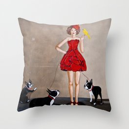 The Dog Sitter Throw Pillow