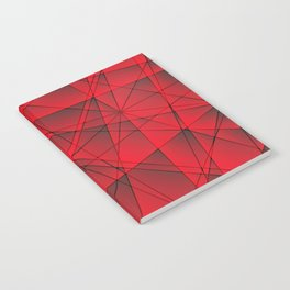 Geometric web of red lines with cross triangular highlights. Notebook