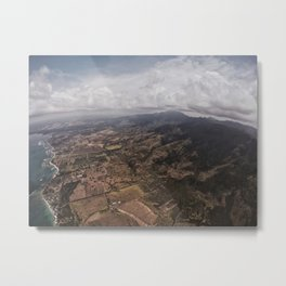 Skydiving Over Oahu Metal Print