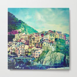 Houses Cinque Terre  | Italy Travel Photography | Travel photo Art Metal Print