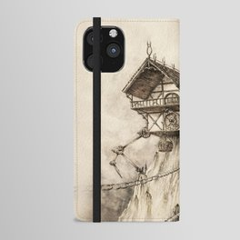 Steampunk House iPhone Wallet Case