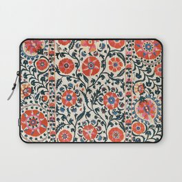 Shakhrisyabz Suzani  Uzbekistan Antique Floral Embroidery Print Laptop Sleeve