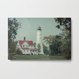 North Point Light Station Milwaukee Lake Michigan Historic Lighthouse  Metal Print